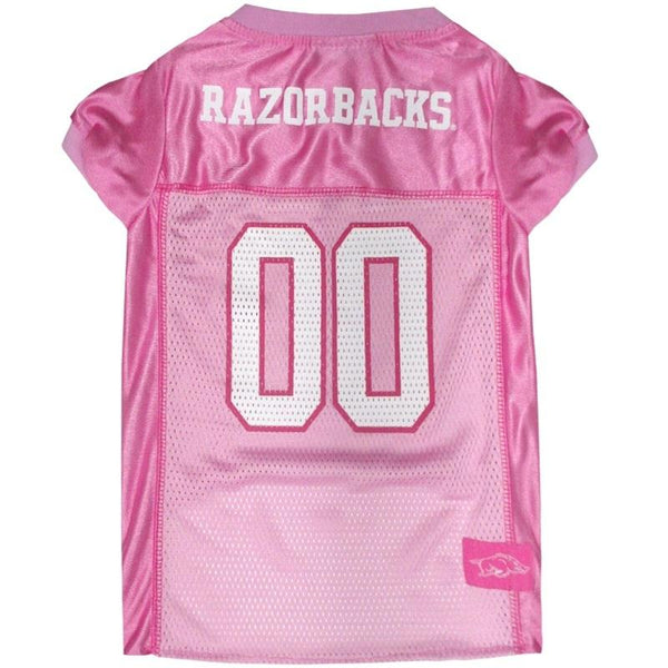 Licensed Dog Sports Apparel and Gear- Pets By Us Arkansas Razorbacks Pink Dog Jersey | Pets First, Dog Sports Apparel, Pets First