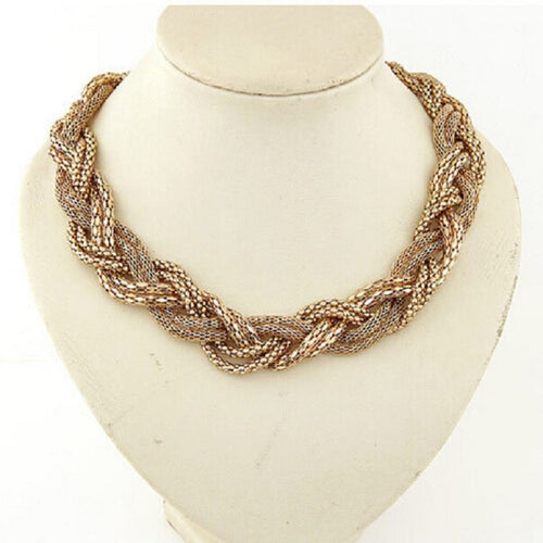 High-Quality Bohemian Twist Knit Necklace