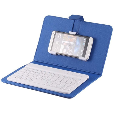 Image of Portable PU Leather Wireless Keyboard Case for iPhone