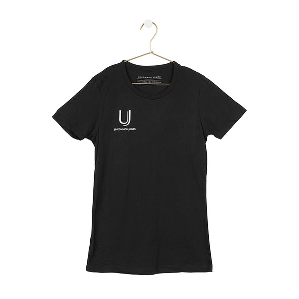 UJ CREW NECK TEE | BLACK