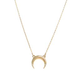CRESCENT NECKLACE | 16""