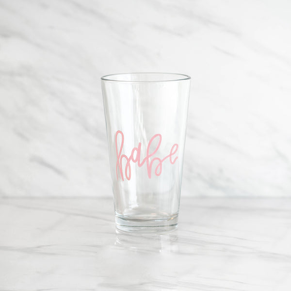 BABE PINT GLASS