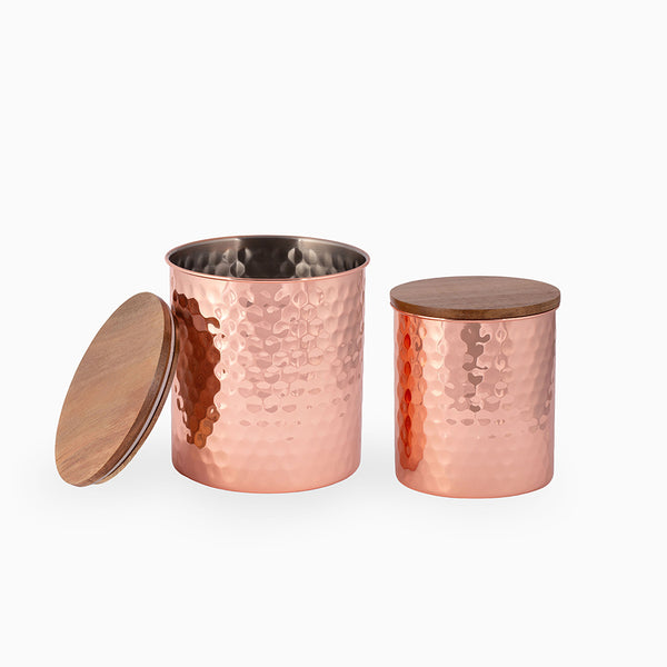 HAMMERED COPPER CANISTERS