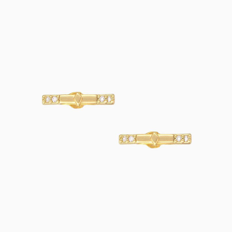 BAR NONE STUD EARRINGS