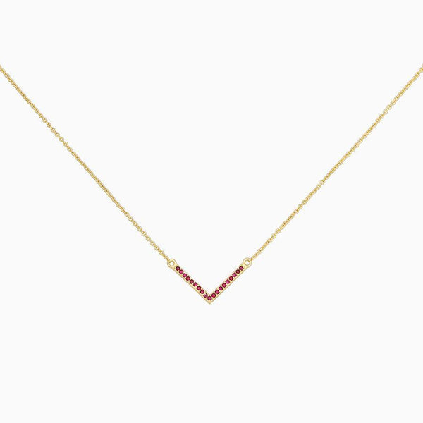 Limited Edition Holiday Baby V Necklace | GOLD