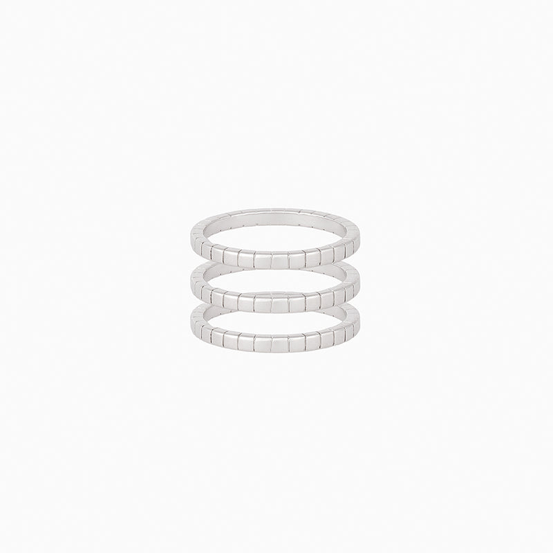 Walk the Line Ring (Set Of 3)