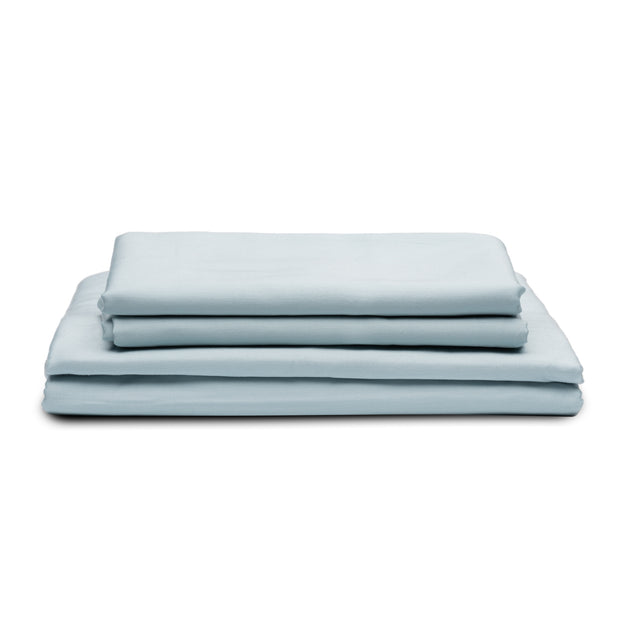 DOPLNOK-Percale-Organic-Cotton-Bed-Sheets-Blue