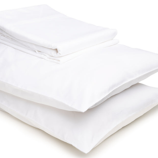 DOPLNOK-Sateen-Organic-Cotton-Bed-Sheets-Pillow-Covers