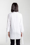 Ruffle Neck Shirt - White