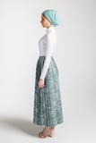 Pleated Skirt - Cadet Green