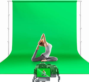 10 x 12 ft. Green Chromakey Photo Video Studio Fabric Backdrop, Background Screen, Movie, Photography Studio, JSAG474