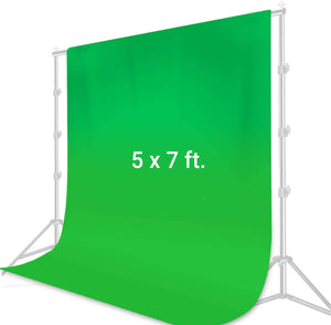 5 ft. X 7 ft. Green Chromakey Muslin Backdrop Photography Photo Shooting, Long Life Time Reusable Fabric Backdrop, Easy Chromakey Backdrop, LGG848