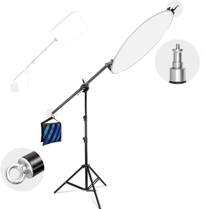 LimoStudio Photo Studio Lighting Reflector Arm Stand Reflector Stand Holder Boom Arm, AGG812_V3