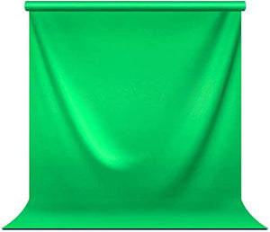 5 ft.(W) X 10 ft.(H) Green Chromakey Photo Video Studio Fabric Backdrop, Background Screen, Pure Green Muslin, Photography Studio, JSAG510