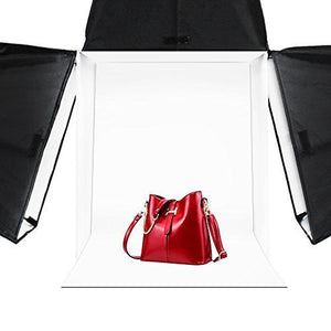 "LimoStudio 24"" Table Top Photography Studio Light Tent Kit in a Box - Photo Tent, 2x Double Head Light Set, Mini Camera Stand, AGG903_V3"