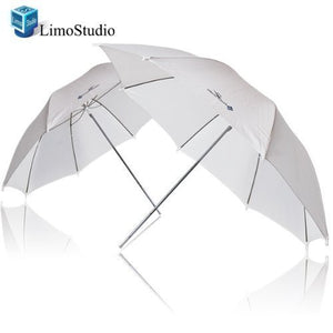 "LimoStudio 2x 33"" Studio Lighting Umbrellas Translucent White soft Umbrella, AGG124-A"