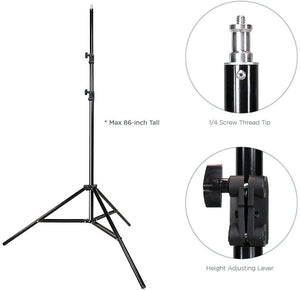 LIMOSTUDIO, AGG1459, 10 ft. Backdrop Support Stand Light Softbox Lighting Kit with 6 x 9 ft. White Black Green Background Screen Backdrop, Photo Studio