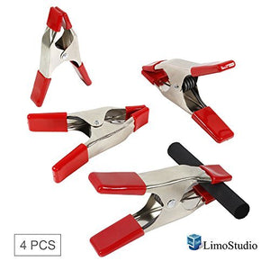 "LimoStudio [4 Pack] 6"" Heavy Duty Metal Spring Clamps, Photo Video Studio, AGG2269"