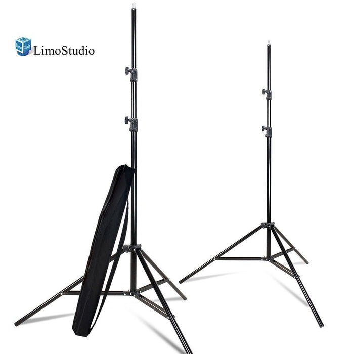 (2 SETS of) 7.5 ft. Photo Studio Light Stand Tripod for Photo Video Studio Softbox or Umbrella Lights, Umbrella Mount Adapter, Any Camera or Lighting Mount, AGG2346V2