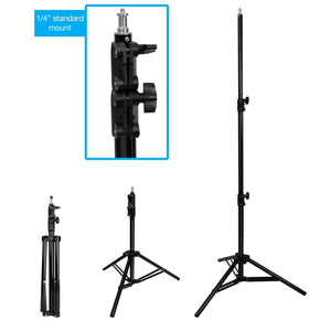 LimoStudio [Set of 2] Professional Photo Video Studio Dimmable LED Light Panel Kit, Continuous Light with 5600K Color Temperature and Brightness Control comes with Light Stand Tripod, AGG2753