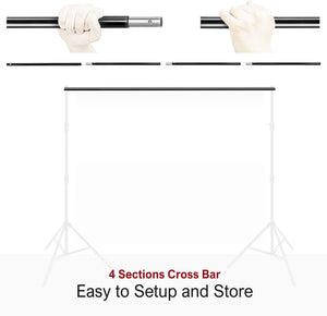 LS LIMO STUDIO LIMOSTUDIO 10 ft. Backdrop Support Cross Bar For Muslin, Screen,  Backdrop, Photoshoot, Portrait, Background, Photography, AGG1783