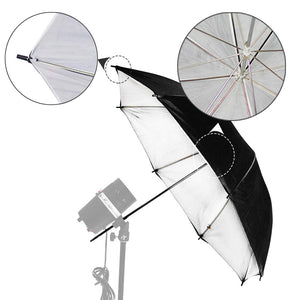 "LimoStudio 40"" Double Layered Black & White Reflective Umbrella for Photo Video Studio, AGG131"
