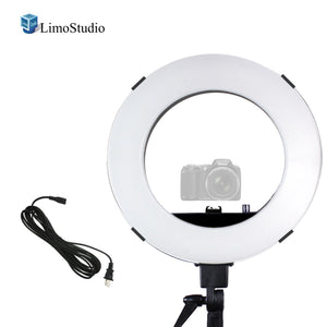 "18"" Diameter Dimmable Ring Light 50W/5500K Continuous Output Lighting with Camera Mount Adapter Bracket and Carry Bag for Portrait and Photo Video Studio, AGG2373_V3"