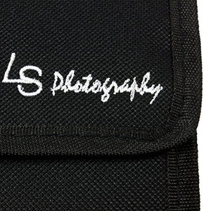 LS Photography 3 Pocket Camera Lens Filter Case Carry Pouch for Round Circular or Square Filters, LGG35
