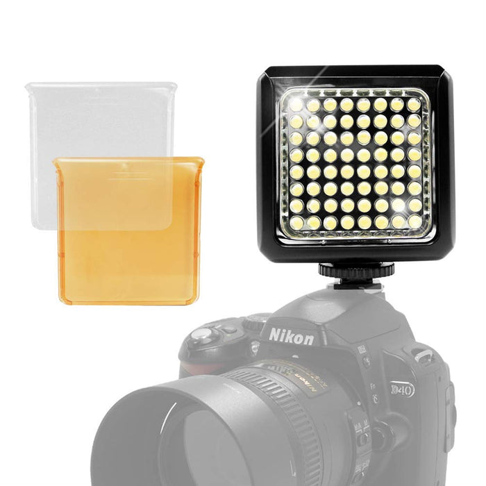 LimoStudio Portable LED Photo / Video Light, Mountable on Any Camera, Bright Continuous Light with White and Yellow Filters Plus Hot Shoe Mount for Photography and Photo Studio, AGG1989_V2