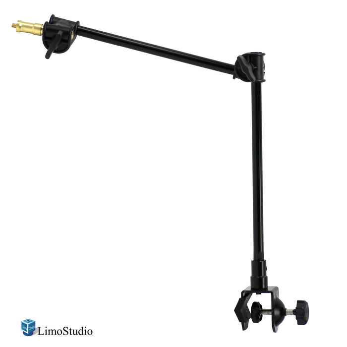 LimoStudio 360 Degree Rotating Magic Arm with Table Mounting Clamp and 1/4-inch Threaded Mounting Stud for Photo/Video Studio, AGG2495