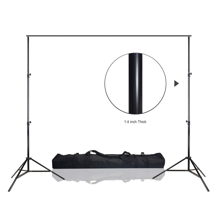 "LimoStudio Backdrop Support System, 12 ft. Width & 10 ft. Height, 1.4"" Thick Stand Pole, Strengthened and Stable with Carry Bag, Photo Video Studio, AGG1782"