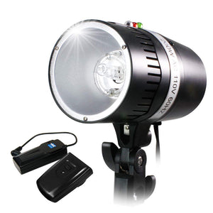 200 Watt Digital Strobe Flash Light & Umbrella Reflector Holder, TEM-AGG2029_V4