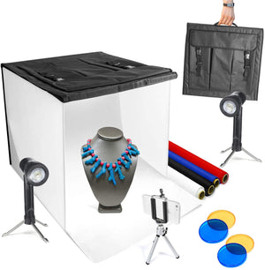 "LS LIMO STUDIO LIMOSTUDIO 16"" x 16"" Table Top Photo Photography Studio Lighting Light Tent Kit in a Box, AGG349"