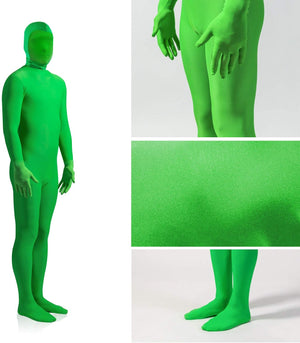 LimoStudio AGG779 Green Chromakey Body Suit, Spandex Stretch Unisex Adult Costume Zentai Disappearing Man for Photo Video Photography Effect
