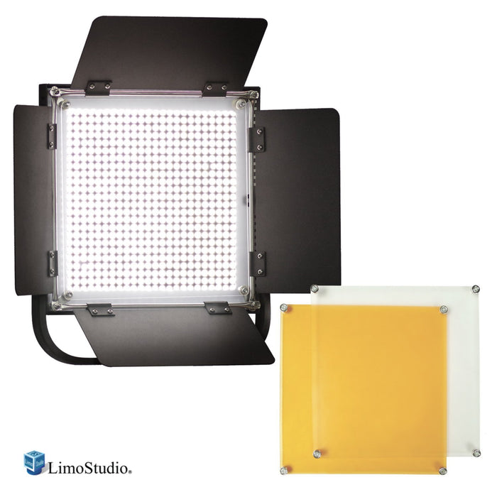 LimoStudio 600 LED Photo Video Light Barndoor Panel with Color Gel Filter , AGG1449_V2