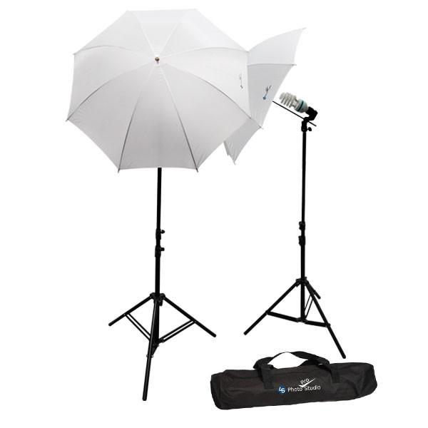 2 Photography Studio Lighting Kits w/ 2 x 35w 6500k Day-Light Photo Light Bulbs & Case, AGG102