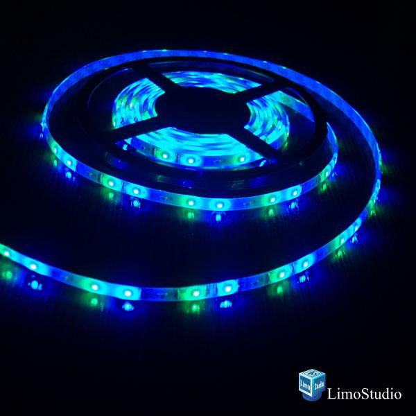 EPOXY 16.4 ft, 5m(200inch) with 3M Tape Ultra bright SMD 5050 LED RGB Color Changing Waterproof Flexible 300 LED Strip Light, AGG1038