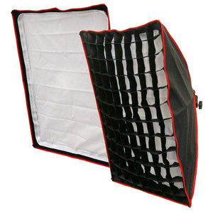 "Photography Studio Portrait Honeycomb Grid Softbox Lighting Box 27"" x 18"" with 400W Compact Fluorescent Light Bulb, AGG1056"