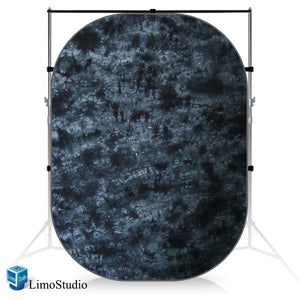 Photography Studio Collapsible Pop Out Muslin Background Panel Disc, Tie Dye Gray, AGG1057
