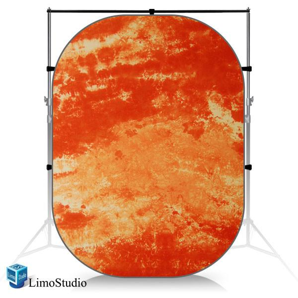 Old Master Orange Photo Video Studio Collapsible Backdrop Background Panel Disc, AGG1062
