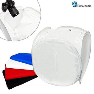 "Table Top Photo Studio Light Tent Kit, 24"" Photo Light Box, Continous Lighting Kit, AGG1067"