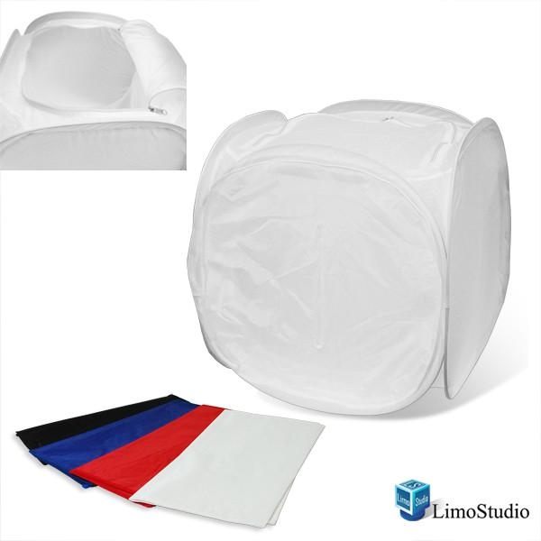 "Table Top Photography Studio Top Open 17"" Photo Soft Box Light Tent - 4 Chroma Key Backdrops, AGG1078"