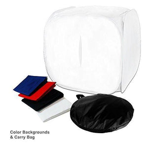 "Photography Table Top 30"" x 30"" Premium Photo Studio Softbox Light Tent Cube with 4 ChromaKey Backdrops, AGG108"