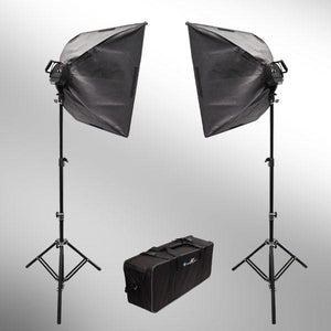 2000W Digital Photography Studio Softbox Lighting Light Kit Photo Softbox Light + Carrying Case, AGG109