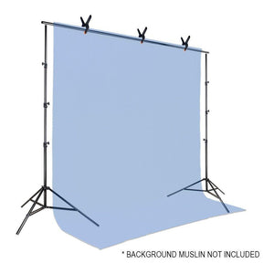 Photo Video Studio 10Ft Adjustable Muslin Background Backdrop Support System Stand with 3pcs Backdrop Support Spring Clamp, AGG1114V2