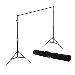 900W Photography Portrait Photo Video Studio Light Kit, Triple Photography Umbrella Lighting with 6x9 ft Black Backdrop Background Support Kit, AGG1127