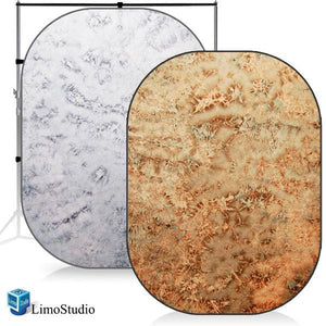 Red & Pearl Photo Video Studio Collapsible Reversible Backdrop Background Panel Disc, AGG1146