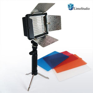 Photo Video 212 LED Lighting Barndoor Light Panel with Mini Table Top Stand Kit, AGG1153