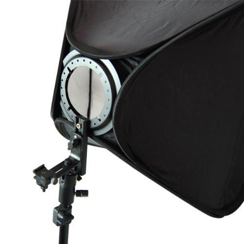 "Photography Studio 16"" Light Holder with Square Softbox Reflector with Stand, AGG1167"