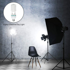LimoStudio Digital Full Spectrum Light Bulb, 45W Photo CFL 6500K, Daylight, Pure White, Case of 4, AGG117